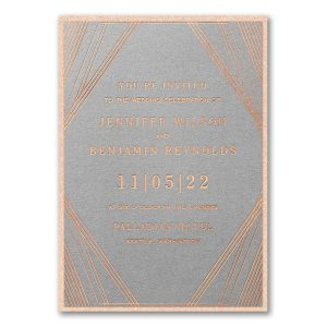 Geometric Stripes Layered Wedding Invitation Icon