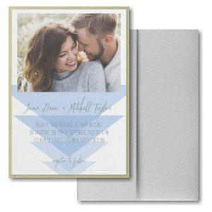 Geometric Triangles Layered Pocket Wedding Invitation Icon