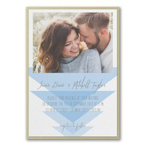 Geometric Triangles Layered Wedding Invitation Icon