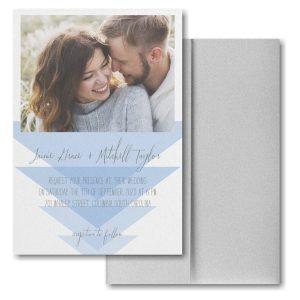 Geometric Triangles Pocket Wedding Invitation Icon