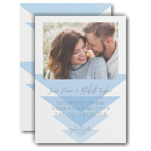 Geometric Triangles Wedding Invitation Icon