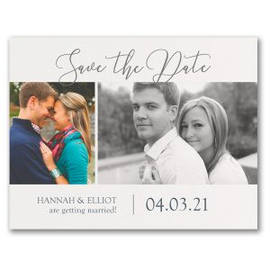Getting Married Photo Save the Date Postcard Icon