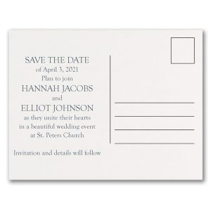 Getting Married Photo Save the Date Postcard alt