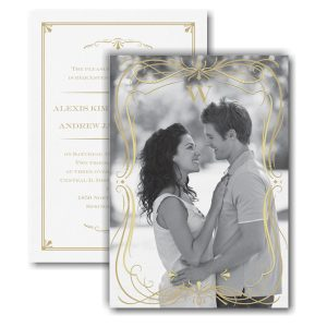 Glam Frame Photo Wedding Invitation Icon