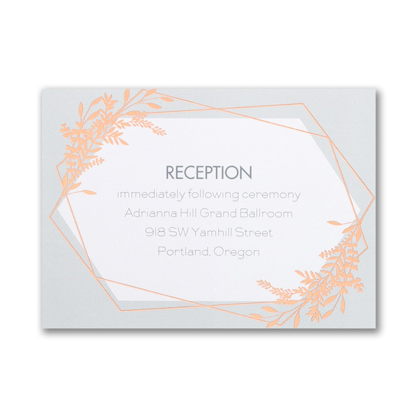 Gleaming Greenery Reception Card