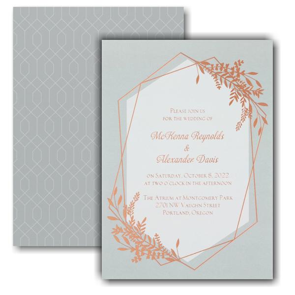 Gleaming Greenery Wedding Invitation