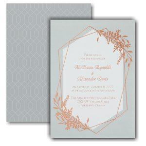 Gleaming Greenery Wedding Invitation Icon