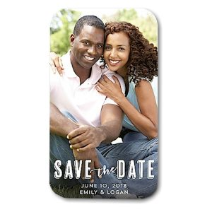 Glitter Chalkboard Save the Date Magnet Icon