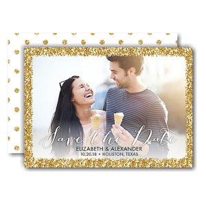 Glitter Frame Save the Date Card Icon