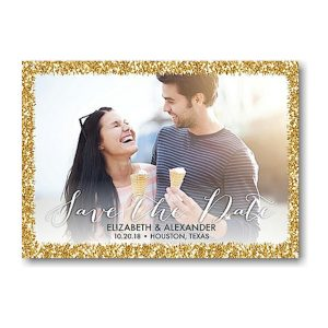 Glitter Frame Save the Date Magnet Icon