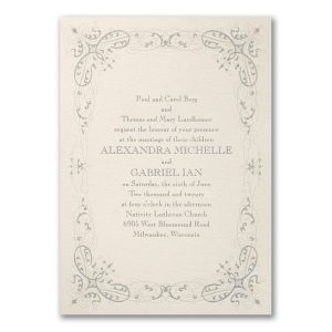 Glittering Flourishes Wedding Invitation Icon