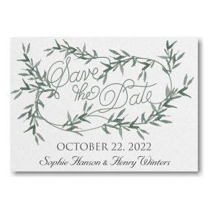 Greenery Wreath Save the Date Card Icon