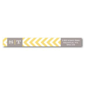 Grey Film Strip Photo Skinny Address Label