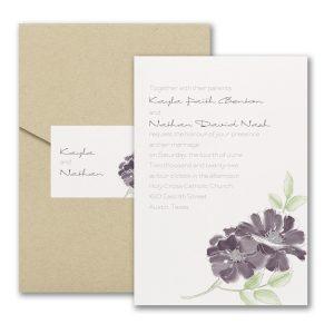 Hand-Drawn Floral Pocket Wedding Invitation Icon