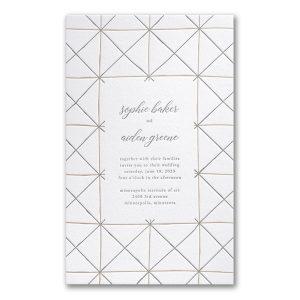 Hand-drawn Lines in White Wedding Invitation Icon