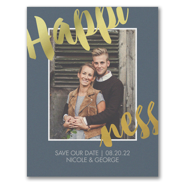 Happiness Save the Date Card Icon