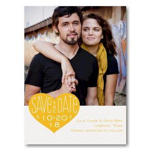 Heart that Date Photo Save the Date Card Icon