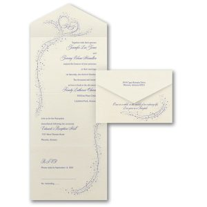 In the Stars Seal 'n Send Wedding Invitation