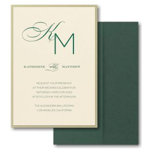 Initially Loved Layered Pocket Wedding Invitation Icon