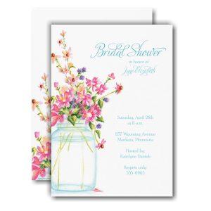 Jar of Flowers Bridal Shower Invitation Icon