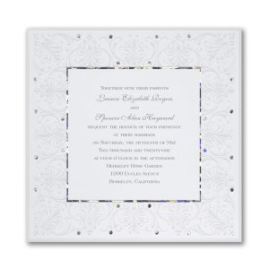 Jeweled Love Wedding Invitation Icon