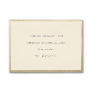 Joyful Brilliance Reception Card