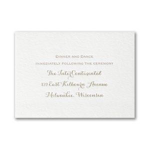 Joyous Spectacle Letterpress Reception Card