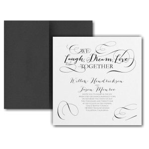 Laugh, Dream, Love Pocket Wedding Invitation Icon