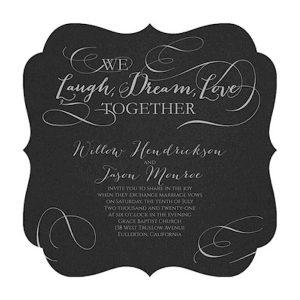 Laugh, Dream, Love Wedding Invitation Icon