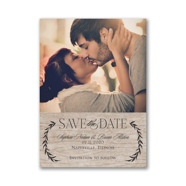 Leafy Natural Save the Date Card