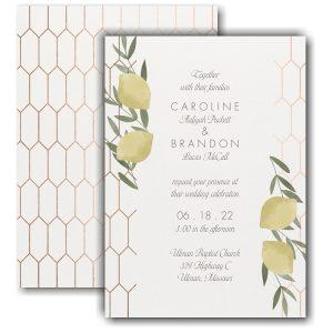 Lemon Love Wedding Invitation Icon