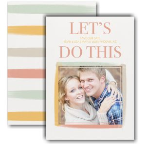 Let's Do This Save the Date Card Icon