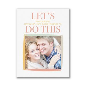 Let's Do This Small Save the Date Card Icon