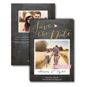 Love Chalkboard Text Save the Date Card Icon