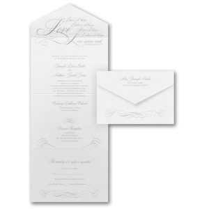 Love Never Ends Seal 'n Send Wedding Invitation Icon