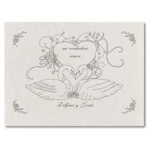 Love Swans Wedding Invitation Icon