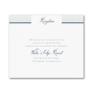Love Tide Reception Card
