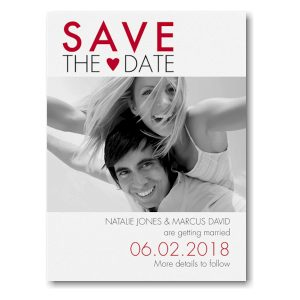 Love Typography Photo Save the Date Card Icon