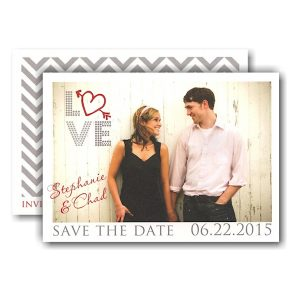 Love Urban Photo Save the Date Card Icon