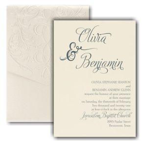 Love and Romance Pocket Wedding Invitation Icon