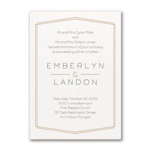 Lovely Elegance Wedding Invitation Icon