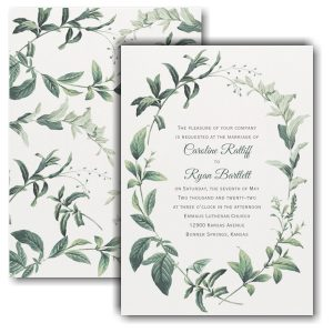 Lovely Greenery Wedding Invitation Icon