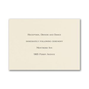Lovely Sophisticate Reception Card