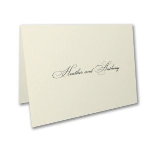 Lovely Sophisticate Thank You Note