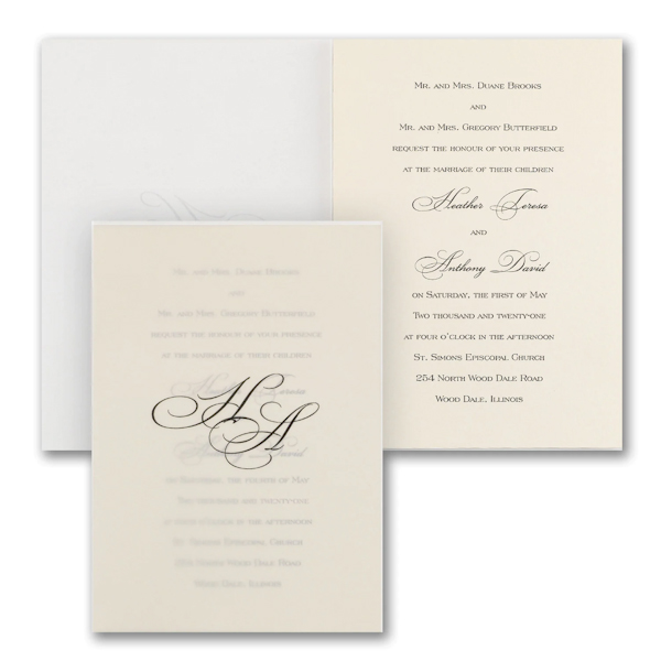 Lovely Sophisticate Wedding Invitation