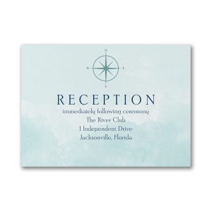 Love's Journey Reception Card