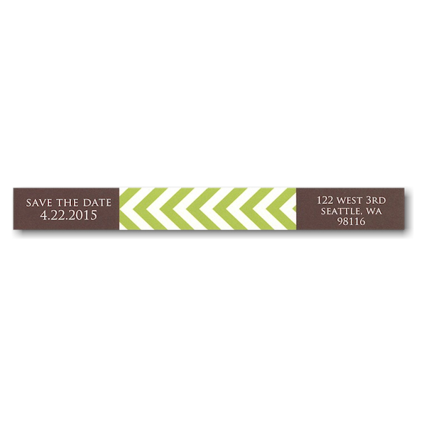 Lucky Us Coffee and Lime Photo Skinny Address Label