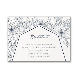 Lush Floral Reception Card