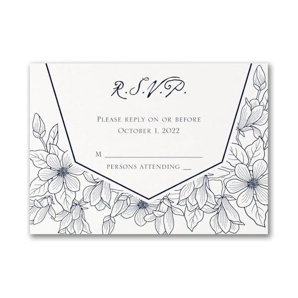 Lush Floral Response Card