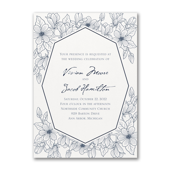 Lush Floral Wedding Invitation